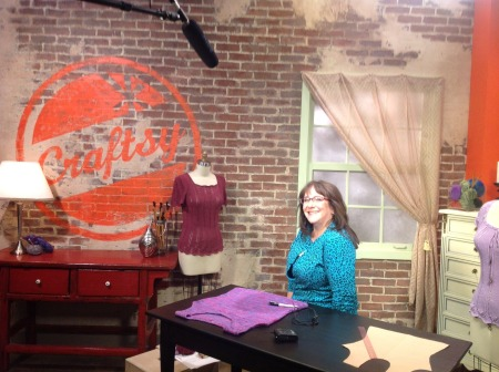 Joan on the Craftsy set